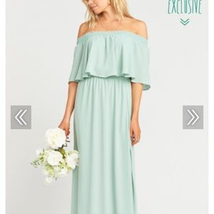 Show me your Mumu HACIENDA MAXI DUSTY MINT CRISP